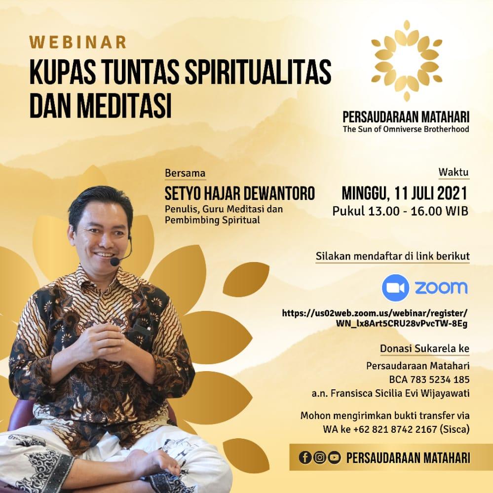 Webinar Kupas Tuntas Spiritualitas dan Meditasi